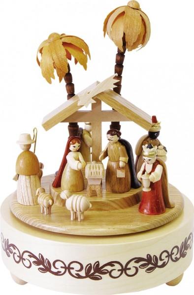Richard Glässer - Spieldose Christi Geburt natur