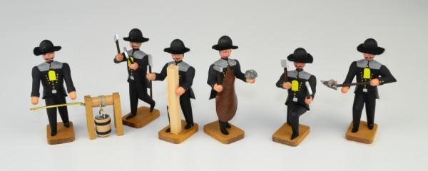 Walter Werner - Bergleute vor Ort - 6 Bergleute mit Haspel