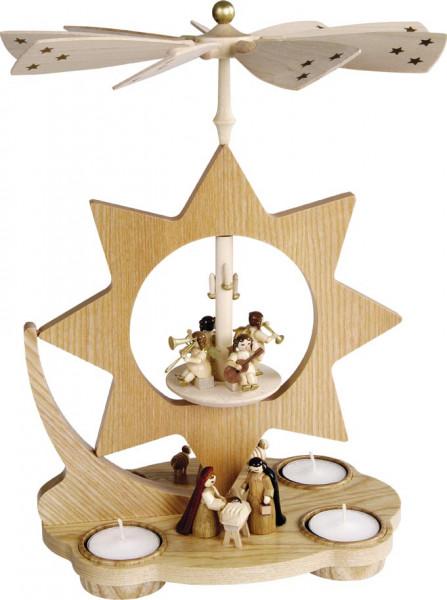 Richard Glässer - Teelichtpyramide Stern, Christi Geburt