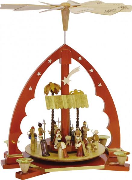 Richard Glässer - Pyramide Christi Geburt, natur