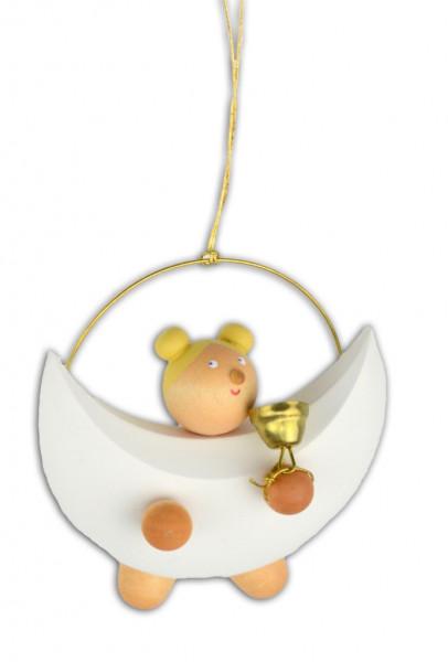 Drechslerei Martin - Baumbehang Engelchen Charlotte mit Glocke