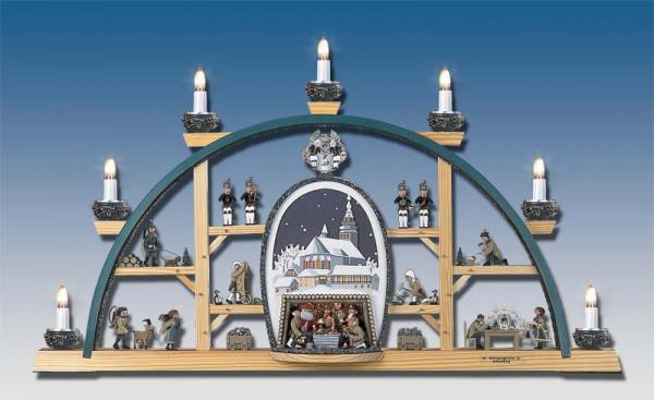 Klaus Kolbe - Schwibbogen Schneeberg -St. Wolfgang- weißes Bild