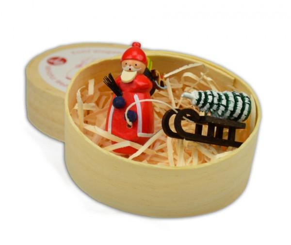 Wolfgang Braun - Miniatur in Spandose Weihnachtsmann Schlitten