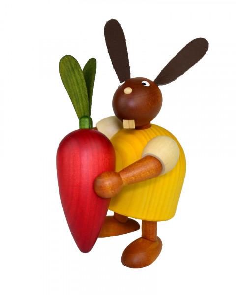 Drechslerei Martin - Hase mit Möhre gelb