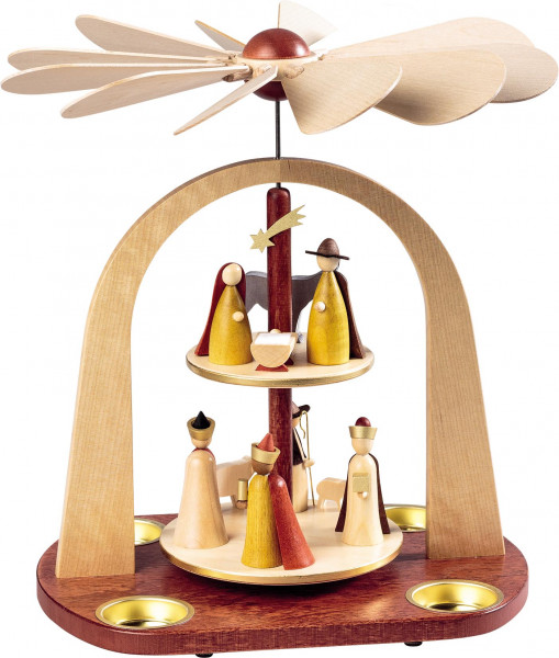 Richard Glässer - Pyramide Christi Geburt, 2-st., neues Naturholzdesign