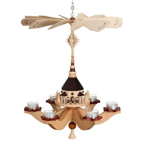 Zeidler - Hängepyramide Seiffener Kirche, für 6 Teelichter