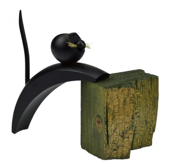 Frieder Weisflog - Katze schwarz - kletternd