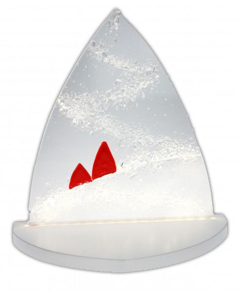 """Gestaltungs ART - Moderner LED Lichterbogen """"Winterzauber"""" klein Bäume rot"""
