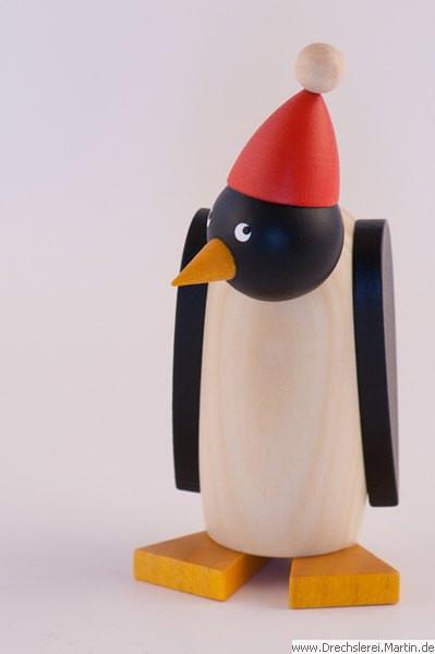 Drechslerei Martin - Pinguin klein mit Mütze