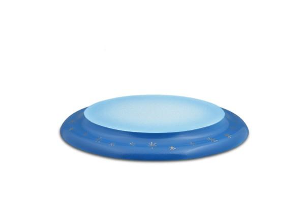 Ellmann - Wolke oval blau weiß, handbemalt