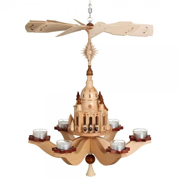 Zeidler - Hängepyramide Dresdener Frauenkirche, für 6 Teelichter