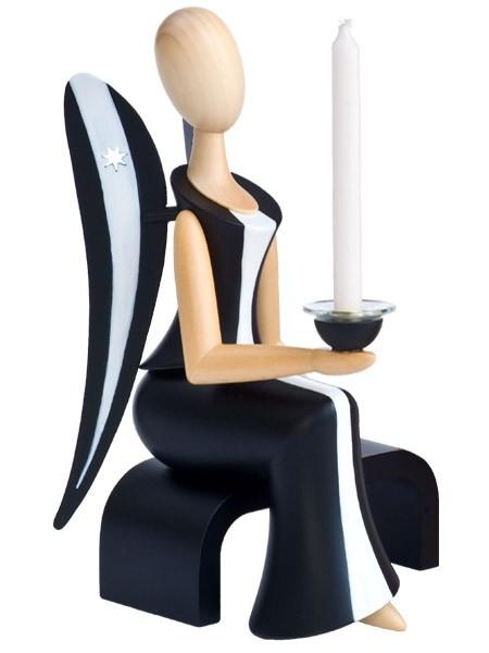 Kollektion Sternkopf - Engel -Black Beauty- sitzend