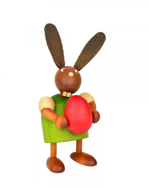 Drechslerei Martin - Hase mit Ei grün, klein