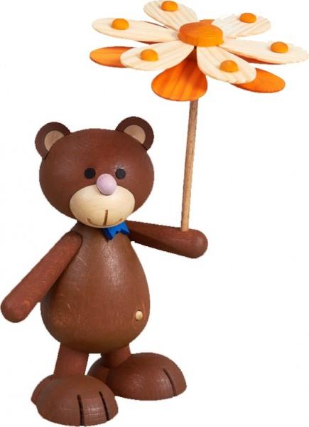 Kunibärt mit Blumenschirm