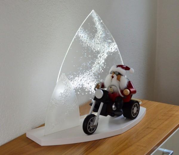 """Gestaltungs ART - Moderner LED Lichterbogen """"Winterzauber"""" mit Weihnachtsmann"""