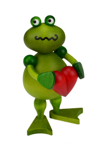 Drechslerei Martin - Frosch Freddy mit Herz