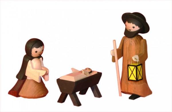 Ulmik - Heilige Familie 3-teilig gebeizt 13 cm