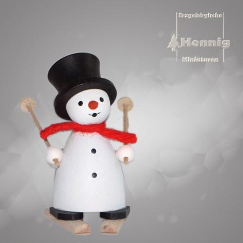Hennig Figuren - Schneemann mit Ski