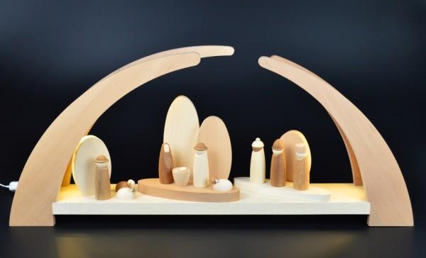 Rauta Edition FG - LED-Schwibbogen mit Krippenfiguren
