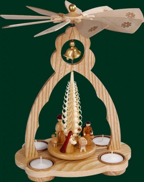 Richard Glässer - Glockenpyramide für Teelichte, Christi Geburt