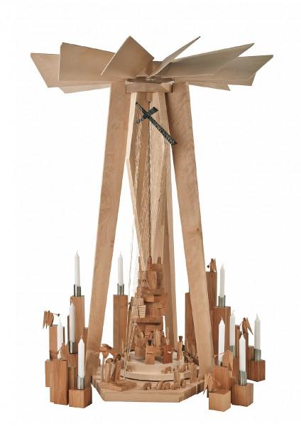 Kneisz Design - Pyramide Moses Sonderanfertigung Eiche/Ahorn Holz - in Kartonverpackung