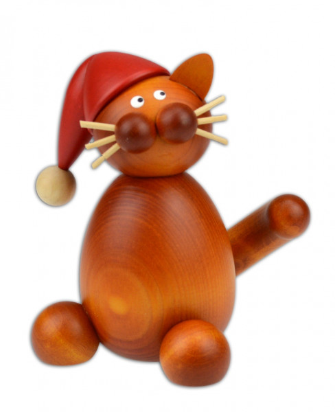 Drechslerei Martin - Weihnachtskater Charlie sitzend, groß