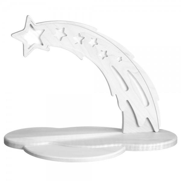 Zeidler - LED Schwibbogen Sternschnuppe, weiß