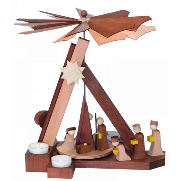 Ulmik - MODERN LINE Pyramide Weihnachtsgeschichte Rosenholz