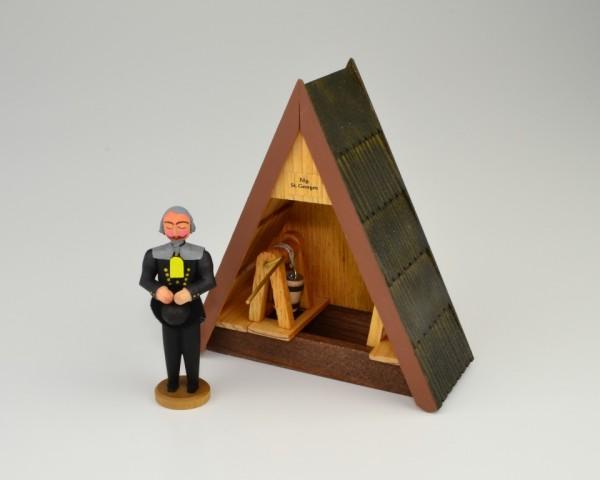 Walter Werner - Betender Bergmann mit Kaue und Haspel