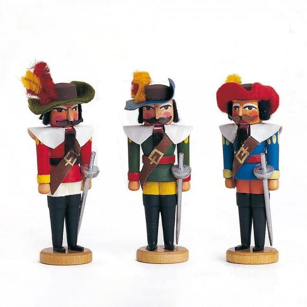 Walter Werner - Miniatur Nussknacker - Musketiere 3 Stück sortiment